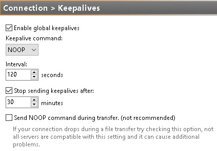 FTP Keep-alive picture 01